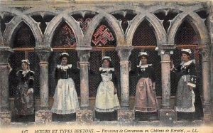 Native Dress Postcard Chateau de Keriolet Unused