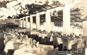 RPPC Comedor Las Anclas ACAPULCO Gro., Mexico c1940s Vintage Photo Postcard