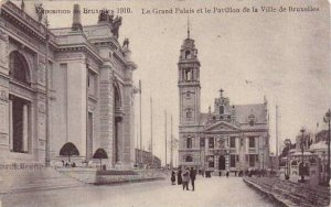 Exposition Universelle Bruxelles 1910 Le Grand Palais et le Pavillon de la Vi...