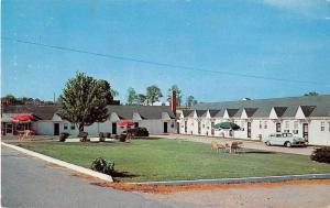 Glen Allen Virginia birds eye view Wigwam Motel entrance vintage pc Y15674