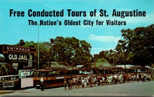 Florida St Augustine Free Trolley Tours At The Old Jail
