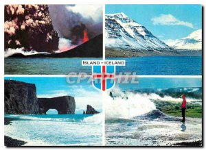Postcard Modern Ice and Fire and land in the Making this is Iceland