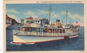 California Santa Catalina Glass Bottom Boat Curteich