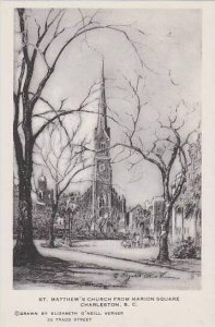 South Carolina Charleston St Matthews Church From Marion Square