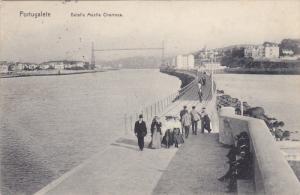 PORTUGALETE, Spain, 1900-1910's; Detalle Muelle Churruca