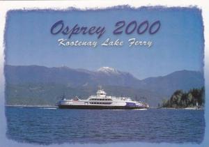 M.V. Osprey 2000,  Kootenay Lake Ferry,  Nelson,  B.C.,  Canada,  50-70s