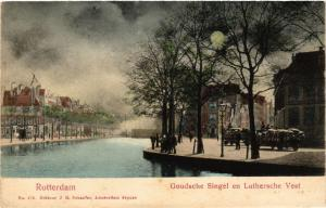 CPA ROTTERDAM Goudsche Singel en Luthersche Vest NETHERLANDS (602487)