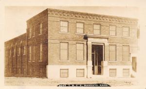 Mankato Kansas~YMCA Building~Newly Constructed~Topsy Next to Nothing~1910 RPPC