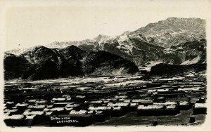 pakistan, LANDI KOTAL, Snow View (1920s) RPPC Postcard