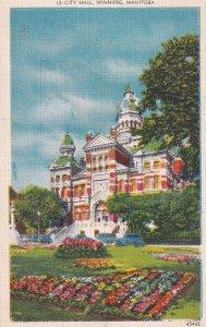 WINNIPEG, Manitoba, Canada, PU-1952; City Hall