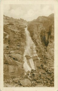 Slovakia Tatra mountains Vodopad SKOK waterfall real photo postcard