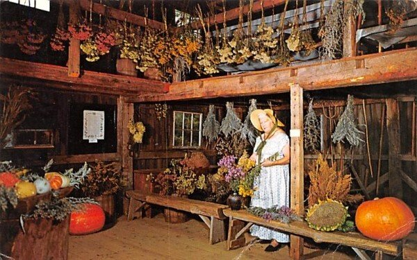 Inside the Herb Barn in Sturbridge, Massachusetts Old Sturbridge Village.