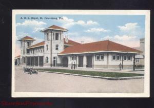 ST. PETERSBURG FLORIDA A.O.L. RAILROAD DEPOT TRAIN STATION