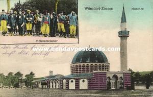 germany, WÜNSDORF-ZOSSEN, WWI POW Camp Mosque, Muslim Prisoners (1917) Islam