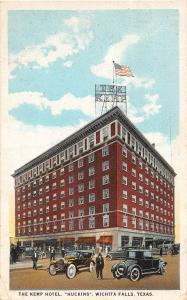 C3/ Wichita Falls Texas Tx Postcard c1920 The Kemp Hotel Huckins Automobiles 1