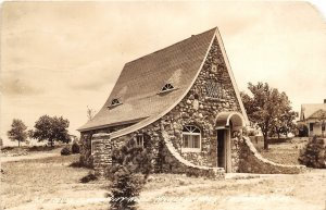 G41/ Fairbury Nebraska RPPC Postcard 1949 Boy Scouts Lodge Highland Park