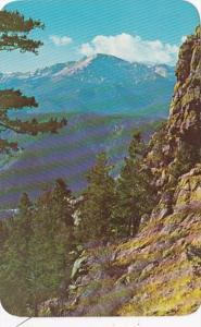 Colorado Pikes Peak From Rampart Range Road Looking Over Ute Pass Pikes Peak ...