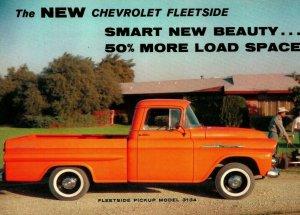 Vtg Publicité Postale Chevrolet Fleetside Modèle 3134 Surdimensionné 5 1/8  x 8