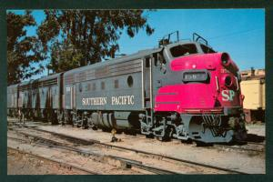 Southern Pacific EMD No 356 Schellville California NWP Train Railroad Postcard