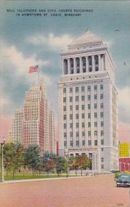 Bell Telehome And Civil Courts Buildings In Downtown Saint Louis Missouri