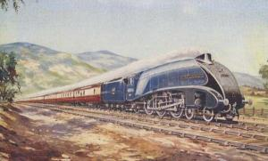 The Bournemouth Belle Channel Packet Train Painting History Antique Postcard