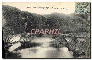 Old Postcard vicinity D & # 39Avallon Under A Rock Coin Du Cousin