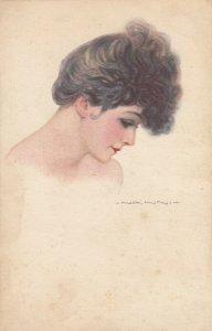 ART DECO ; NANNI ; Female Head Portrait , 1910-30s