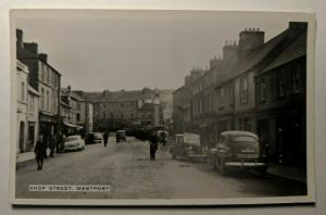 Mint Vintage Shop Street Westport Mayo Ireland Real Picture Postcard