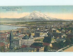 Unused Divided-Back PANORAMIC VIEW Tacoma Washington WA i0645
