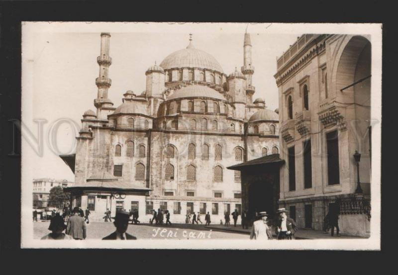 078956 CONSTANTINOPLE Yeni cami street view Vintage photo PC