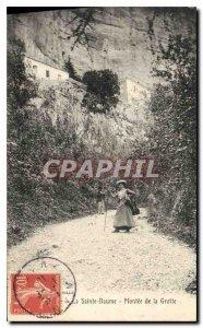 Old Postcard La Sainte Baume Montee de la Grotte