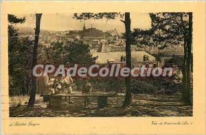 Old Postcard Chatel Guyon view through the pines