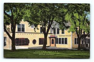 Postcard WI Delavan Potter House Hotel South Shore Drive Delavan Lake G08