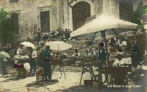 turkey, CONSTANTINOPLE, Jeni Djami Bazar Market Place (1910s) Tinted RPPC