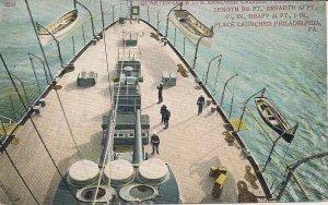 US Navy, USS Pennsylvania, Pre-WWI Era, Forward Deck, Sailors Guns, Cruiser ACR
