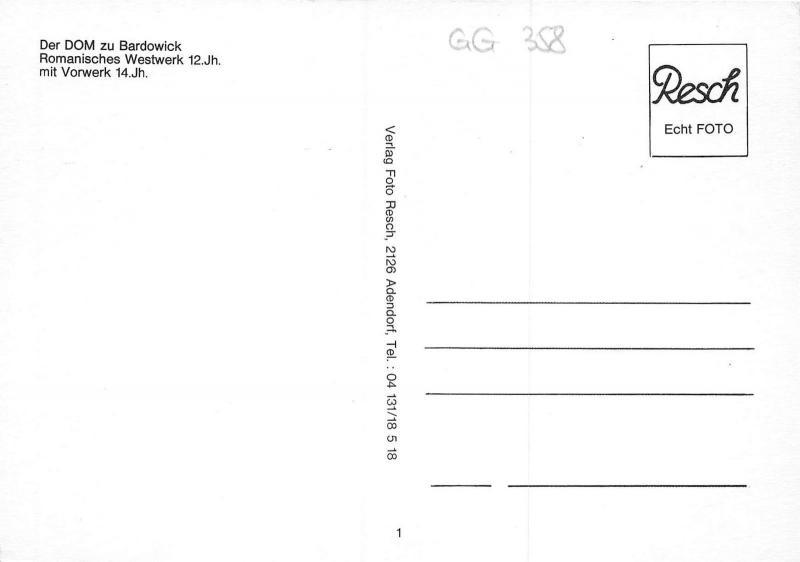 GG358 der dom zu bardowick romanisches westwerk vorwerk  germany