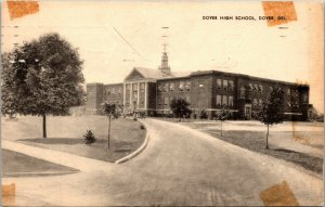 Dover Delaware High School Vintage Postcard