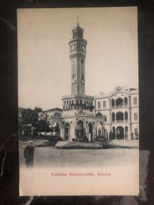 Mint Turkey RPPC Postcard Monumental Fountain Smyrna