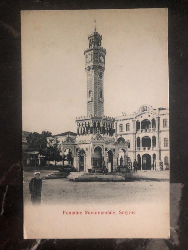 Mint Turkey RPPC Postcard Monumental Fountain Smyrna