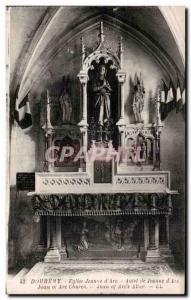 Postcard Old Church Joan of Arc Domremy Altar of Joan of Arc Church Are Joan ...