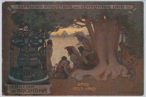 VINTAGE POSTCARD postal antigua - ARGENTINA - BUENOS AIRES : ADVERTISING 1910