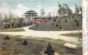 Rochester New York~Highland Park~Pavilion & Lookout Tower?~Paths in Front~1905