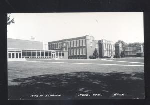 RPPC KIEL WISCONSIN HIGH SCHOOL BUILDING VINTAGE REAL PHOTO POSTCARD