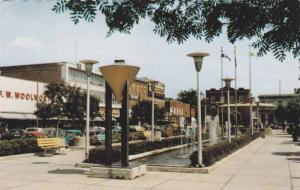 Fountain and Shopping Center at Joliette, Quebec, Canada, 40-60's