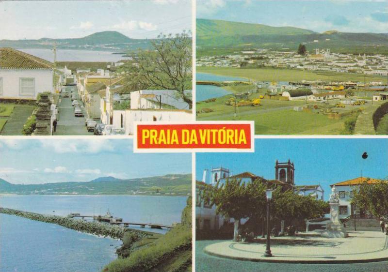 4-Views of Praia da Vitoria, ILHA TERCEIRA, Acores, Portugal, 50-70s