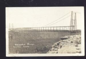 RPPC TWIN FALLS COUNTY IDAHO HANSEN BRIDGE VINTAGE REAL PHOTO POSTCARD