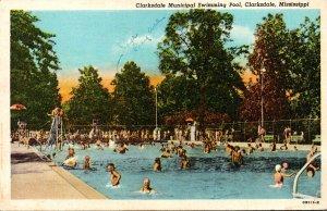 Missouri Clarksdale Municipal Swimming Pool Curteich