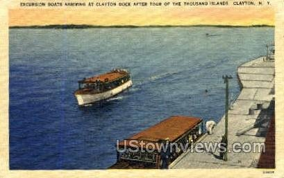 Excursion Boats, Clayton Dock in Clayton, New York
