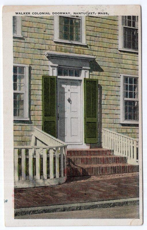 Nantucket, Mass, Walker Colonial Doorway