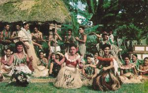 Samoa Group Of Samoans Doing Sive At Festival
